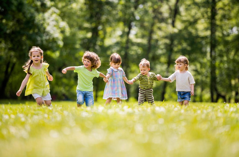 children-grass